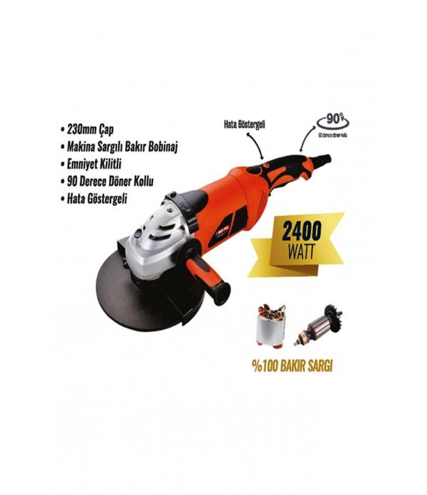 Avuç taşlama makinesi 230 mm 2400 watt
