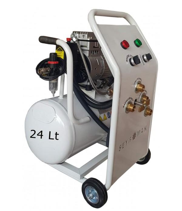 Havalı Petek Temizleme ve Kanal Açma Makinesi 24 Litre Çift Yönlü-Darbeli Yıkama